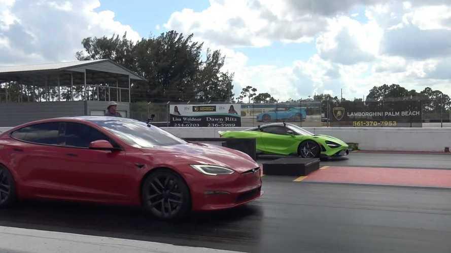 Carrera de aceleración entre el Tesla Model S Plaid y el McLaren 765LT