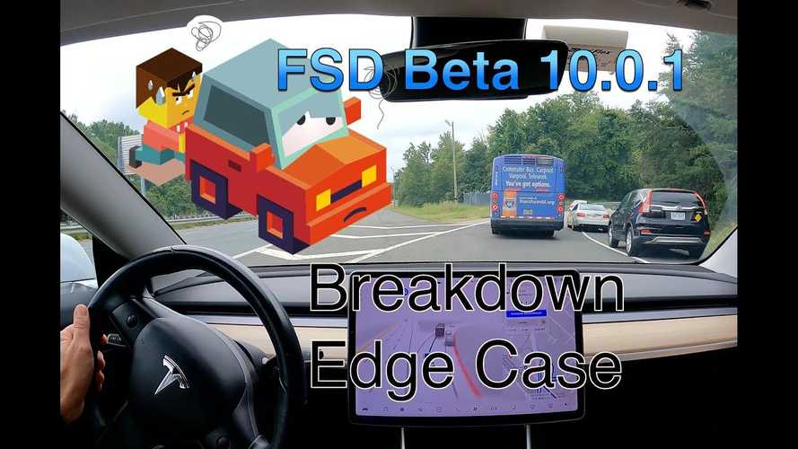 How Does Tesla FSD Beta 10 Handle Broken Down Bus And Tow Truck?
