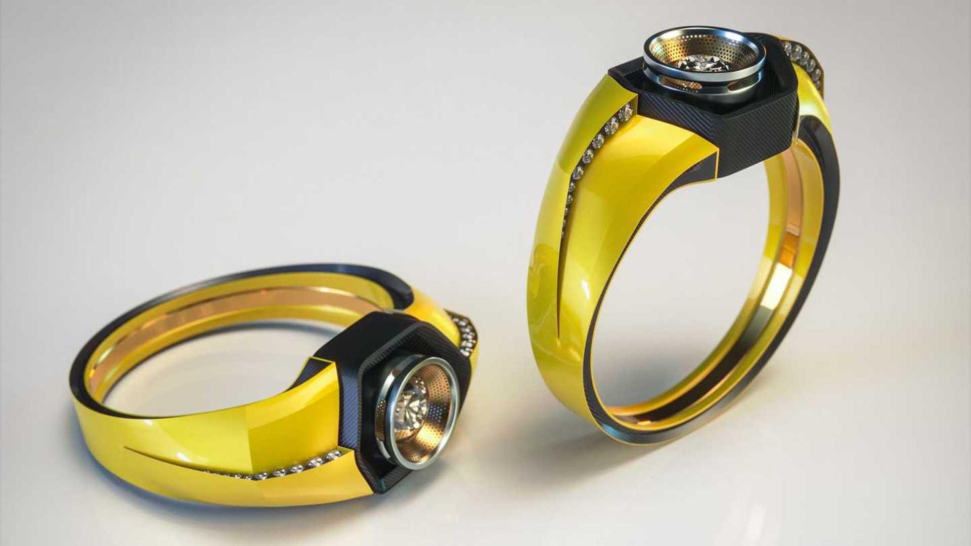 Lamborghini Huracan Themed Engagement Ring