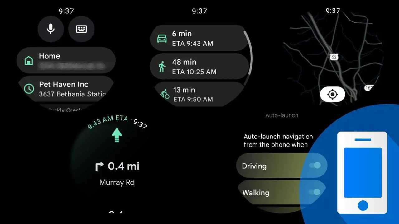 Navigazione Google Maps con Wear OS 3