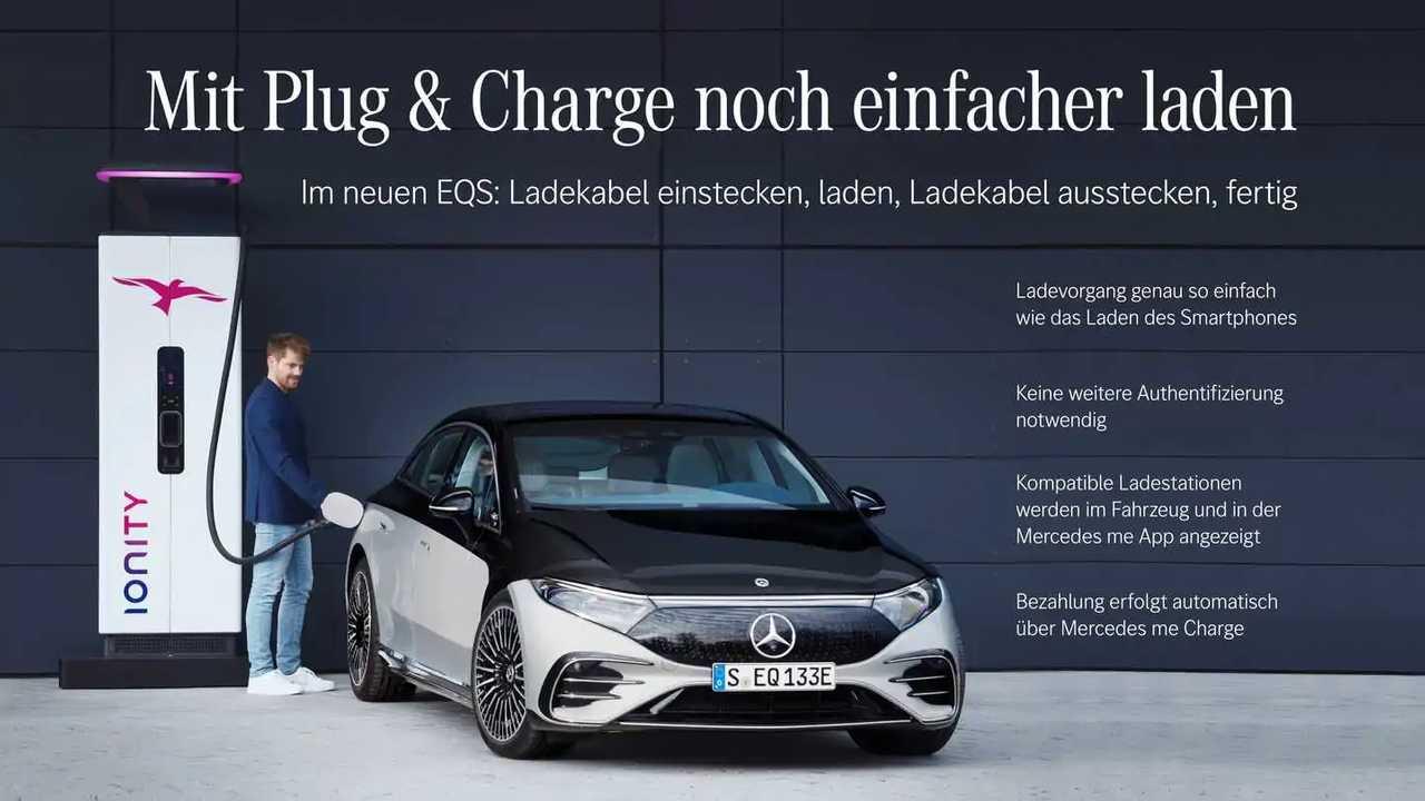 Mercedes EQS mit Plug and Charge