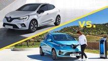 Renault Clio gegen Renault Zoe: Welcher Kleinwagen ist günstiger?