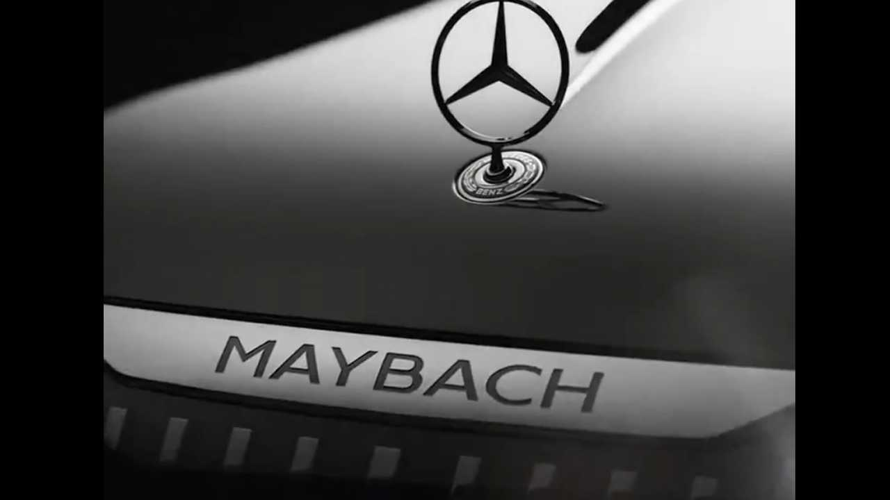 Screenshot of a teaser video from Mercedes-Benz showing parts of a new Maybach.