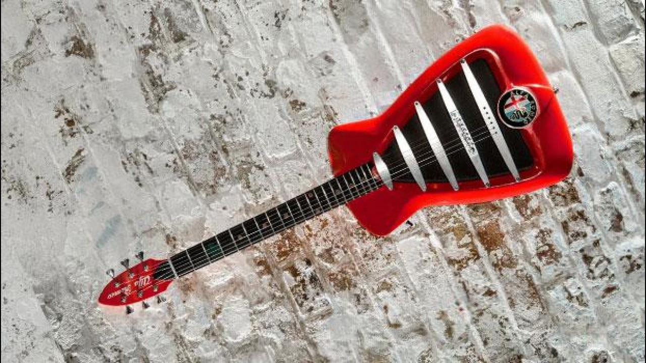 [Copertina] - Arriva l'Alfa-chitarra elettrica ispirata alla 4C. Costa 5 mila euro