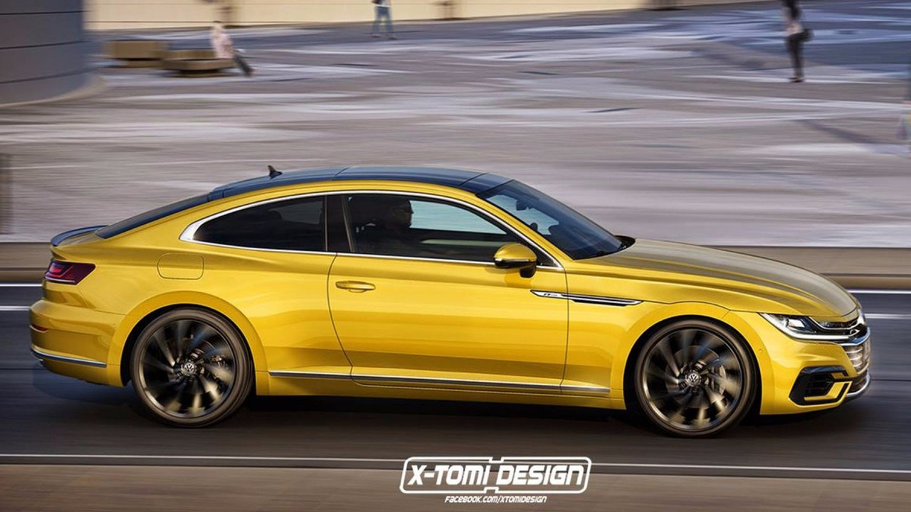 VW Arteon Coupe rendering