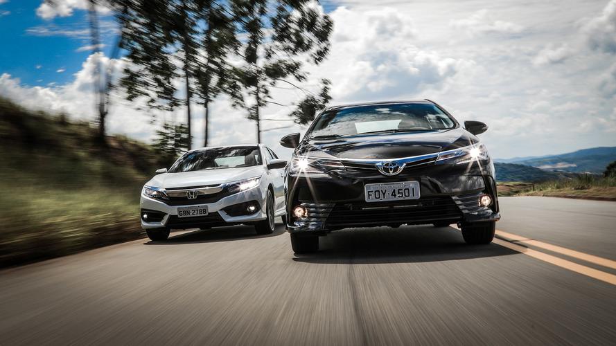 Sedãs médios em maio – Corolla vende 110 vezes mais do que Fluence