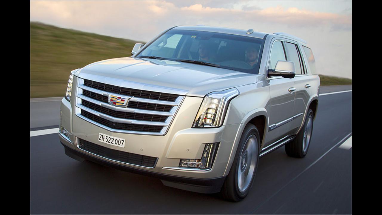 Platz 2: Cadillac Escalade ESV (2.857 Kilo)