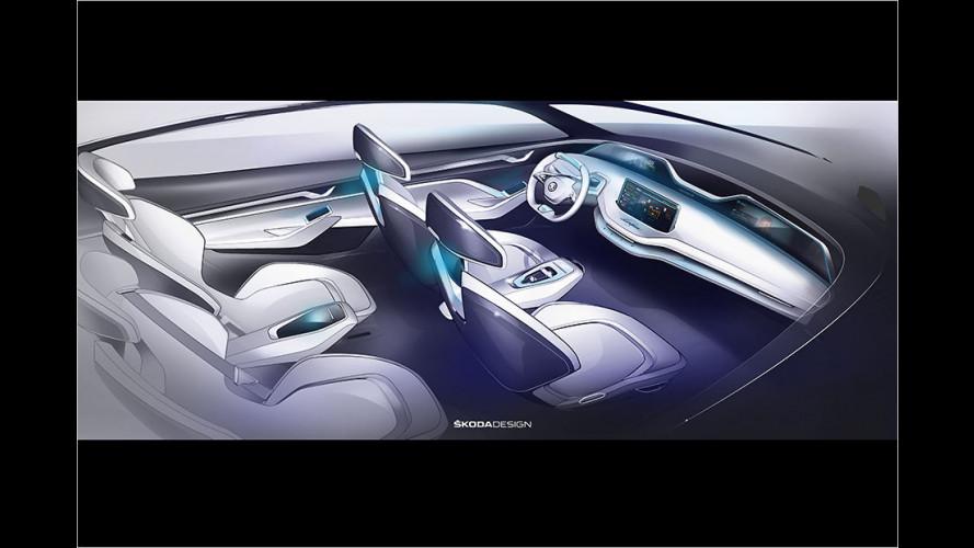 Erste Bilder vom Cockpit des neuen Kodiaq-Coupés