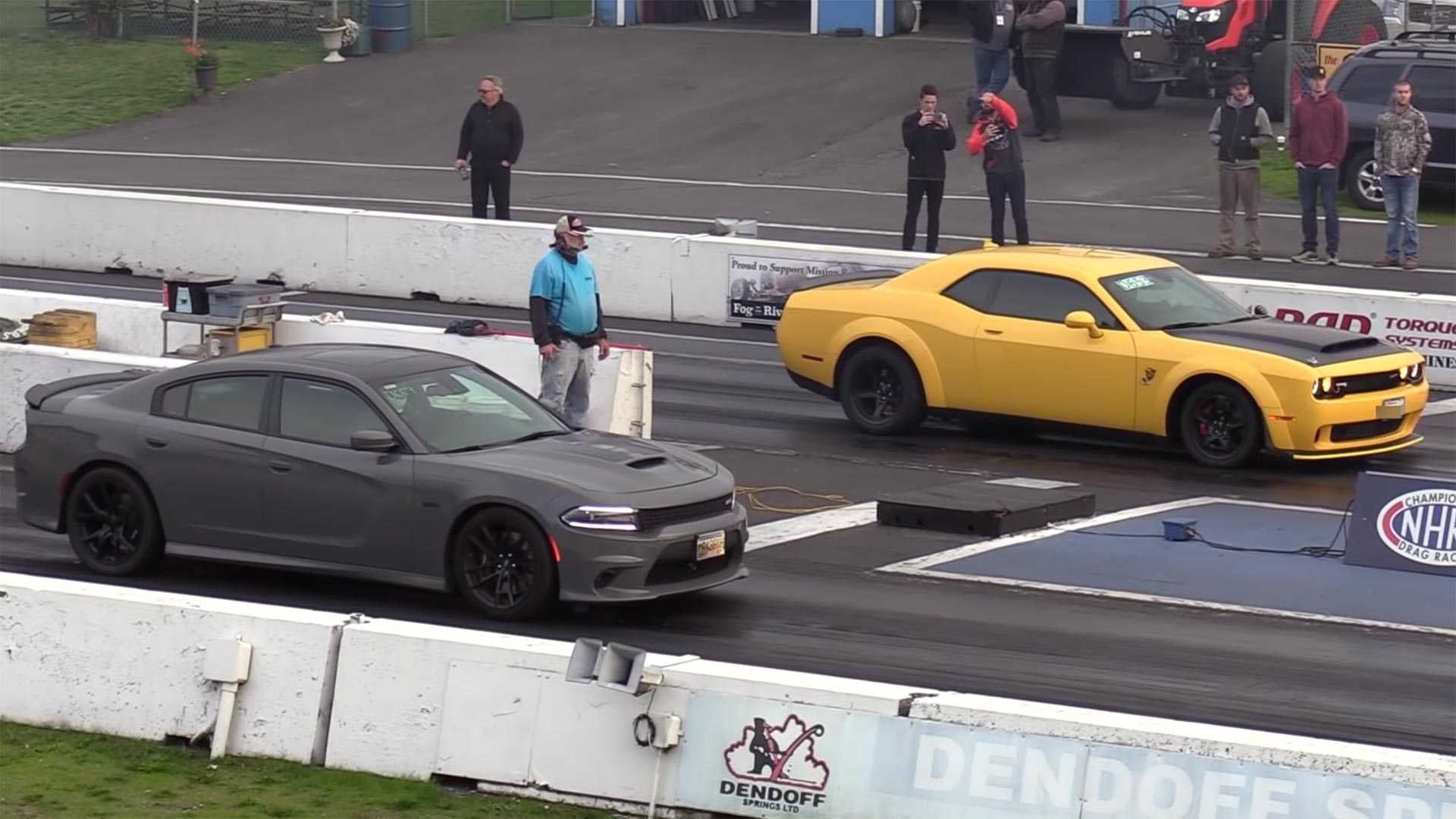 Watch Dodge Challenger Demon Drag Race Charger Srt 392