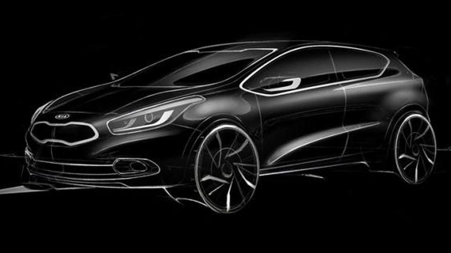 2013 Kia Pro_cee'd teaser rendering allegedly released
