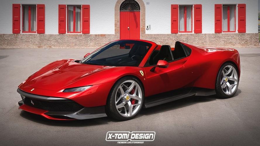 Ferrari SP38'i bir de üstü açık görün