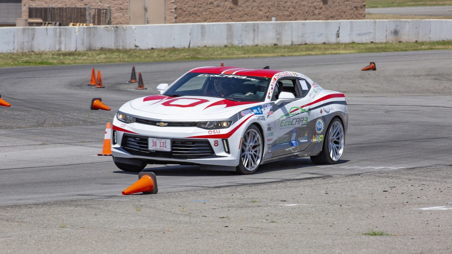 This Plug-In Chevy Camaro Goes 40 Miles On Battery, Sips E85