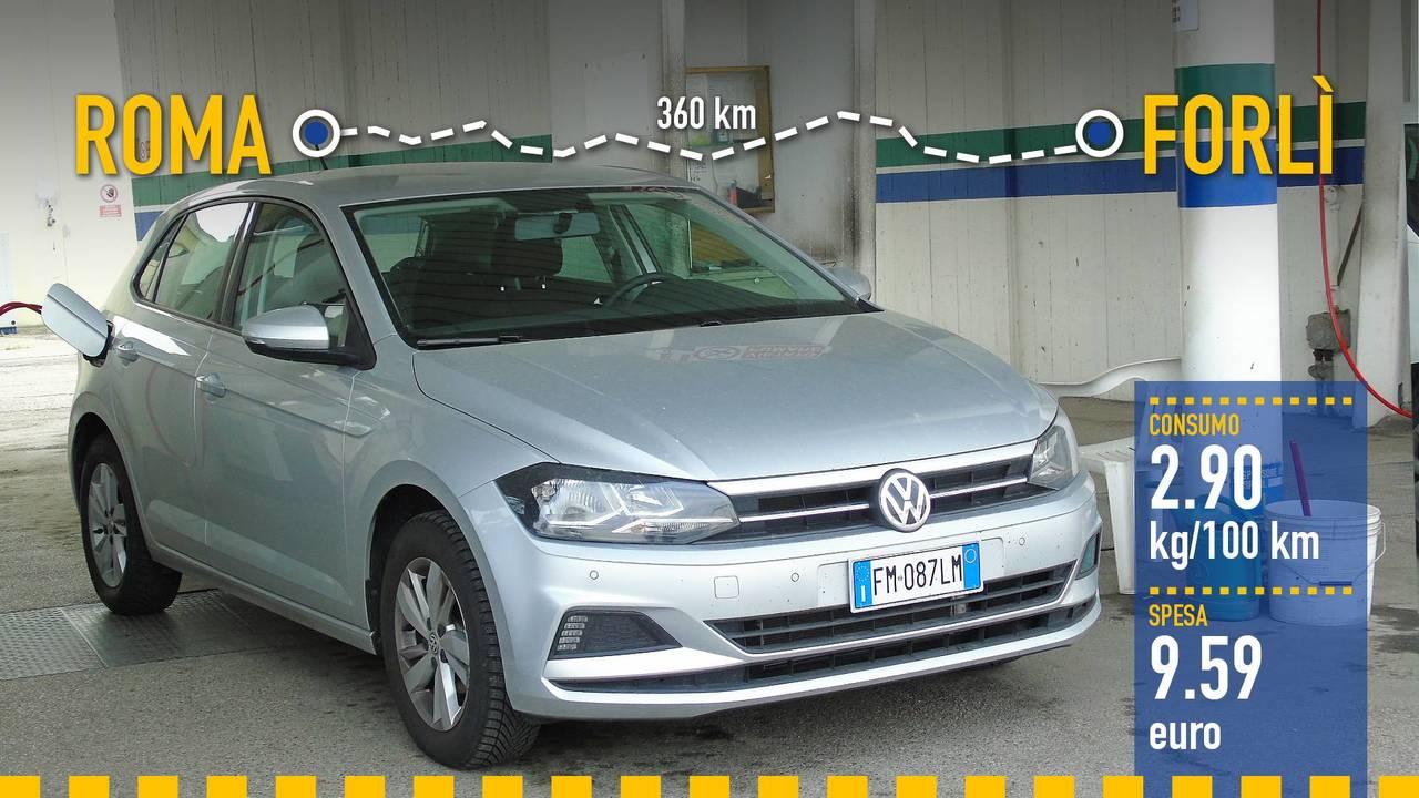 Volkswagen Polo 1.0 TGI, la prova consumi
