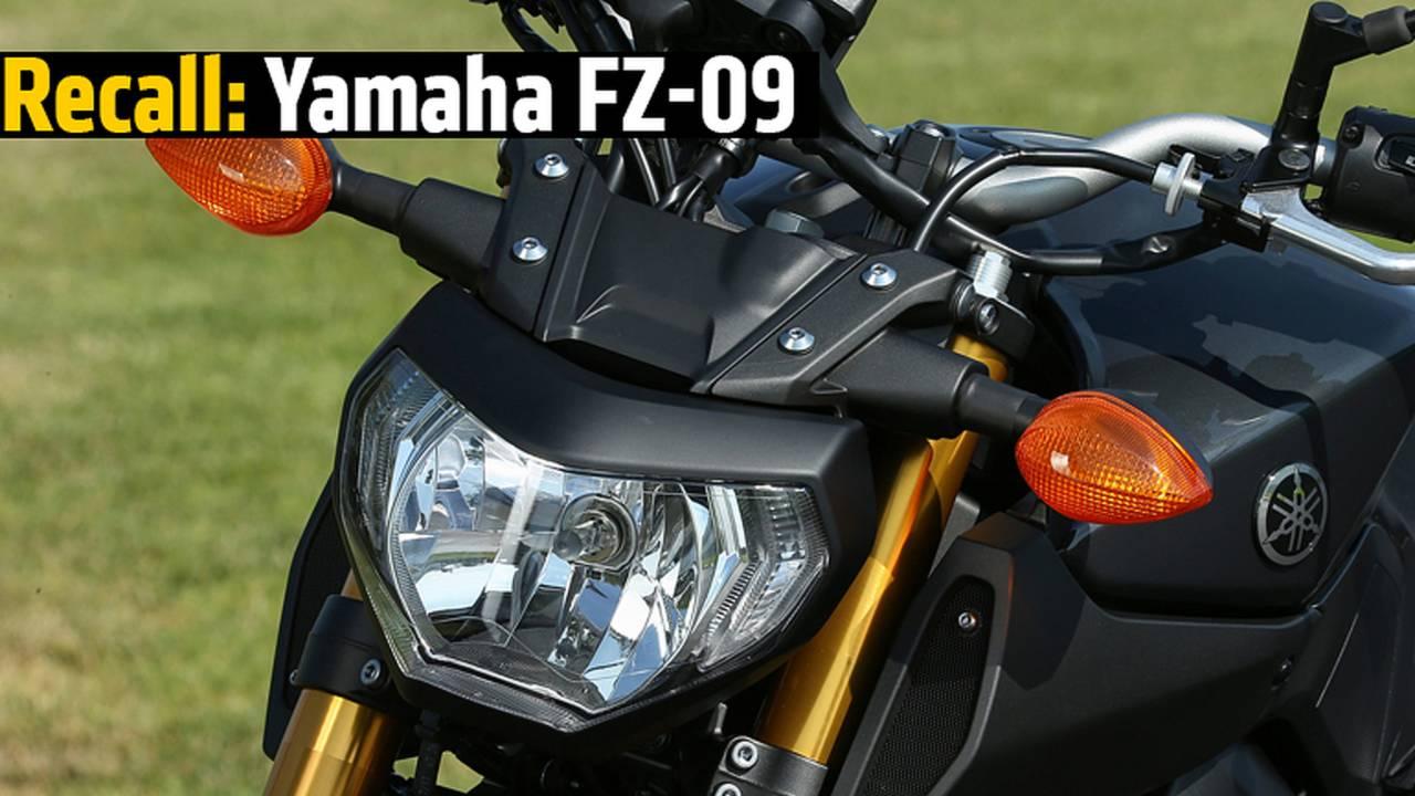 Recall: Yamaha FZ-09