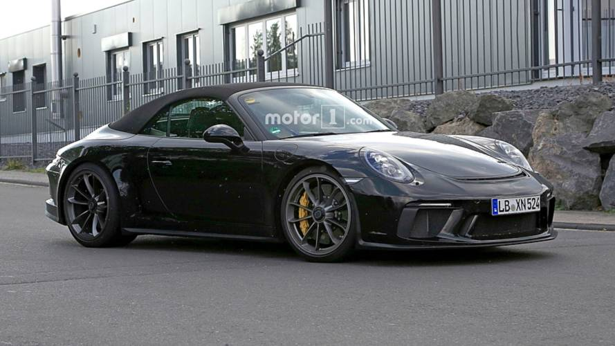 2018 Porsche 911 GT3  Cabrio Spy Photos