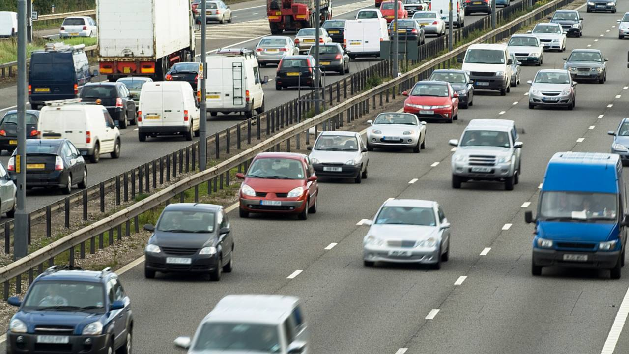 Traffic on M6 motorway