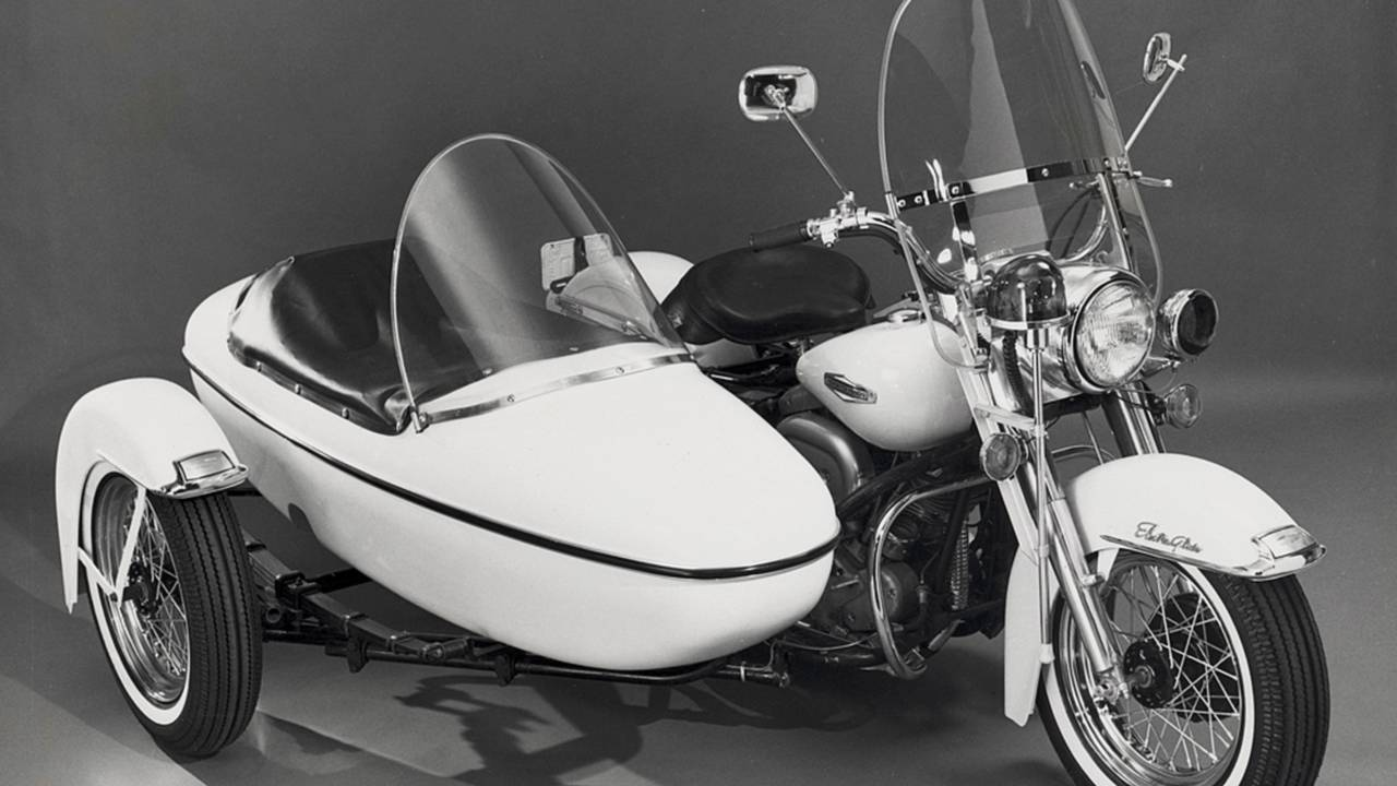 1968 Police Edition Electra-Glide with Sidecar. Photo Courtesy of the HD Archives.