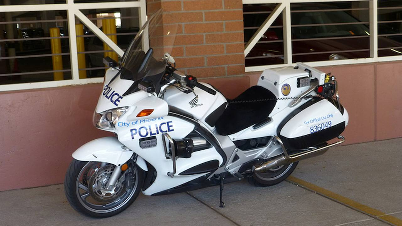 Phoenix Police Motorcycle Hit by Autopilot Tesla