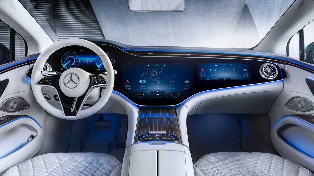 Interior del Mercedes-Benz EQS 2021