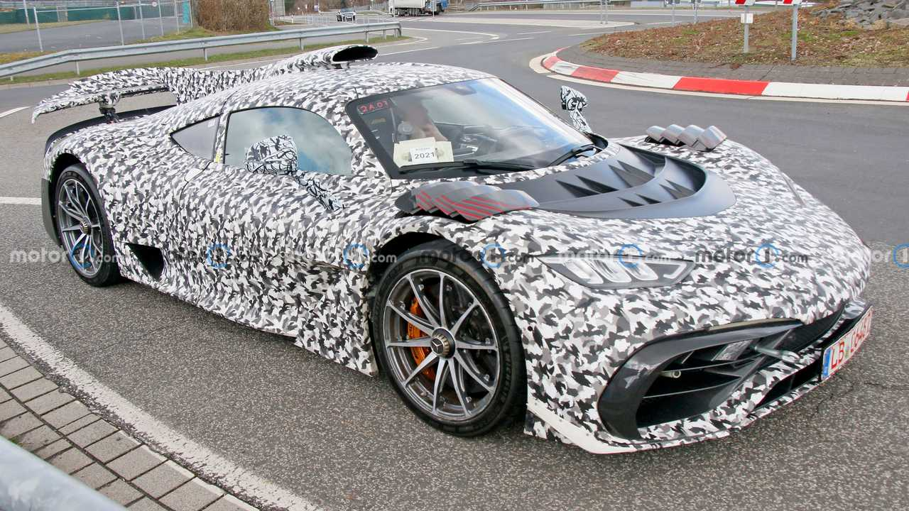 Mercedes-AMG One Spy Photos three-quarter angle above