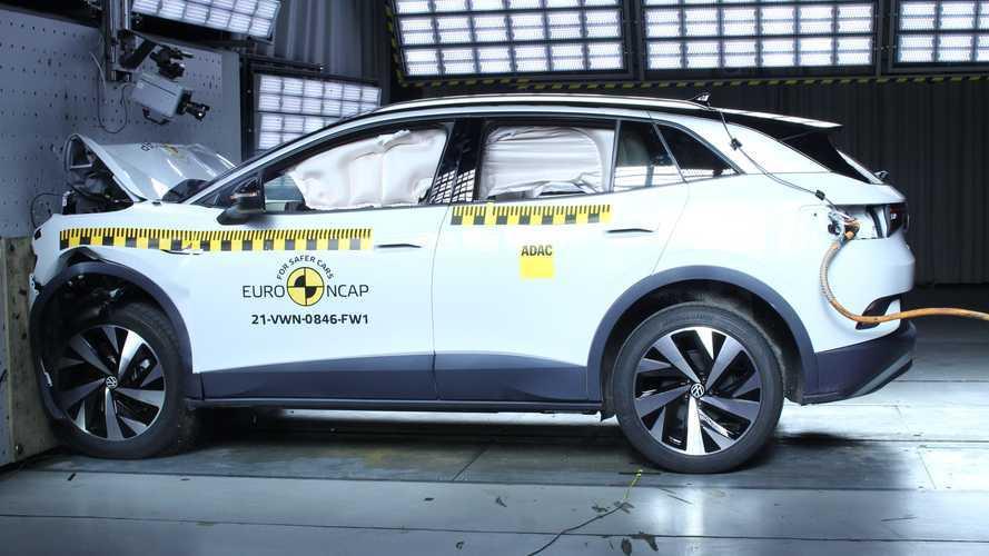 Volkswagen ID.4 brilha com nota máxima nos testes do Euro NCAP