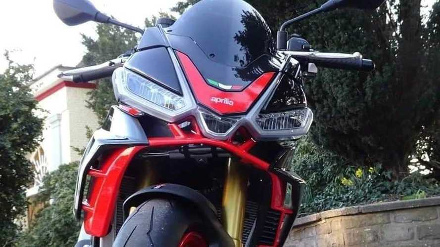 Foto-foto Aprilia Tuono 4 Beredar, Tampil Bergaya Hyper-Nakedbike