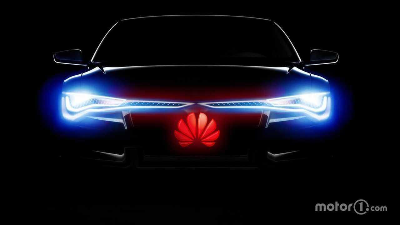 Электрокар Huawei. Рендер Motor1.