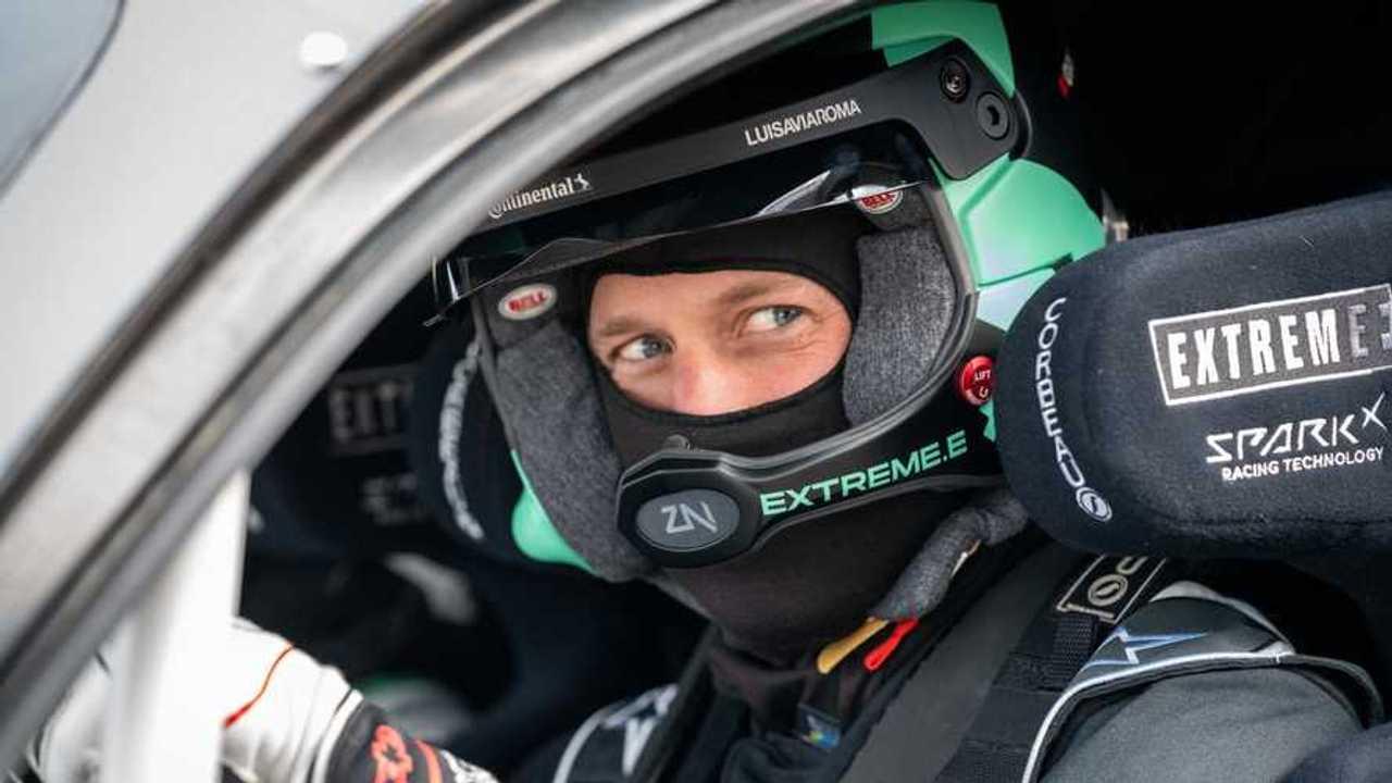 Принц Уильям в гоночной машине Extreme E