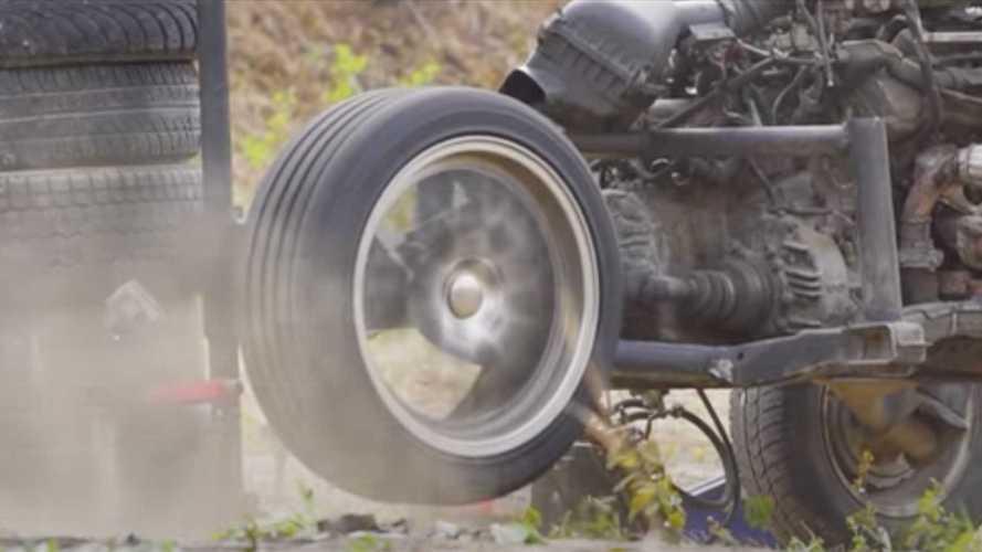 Une roue peut-elle franchir le mur du son (1224 km/h) ?