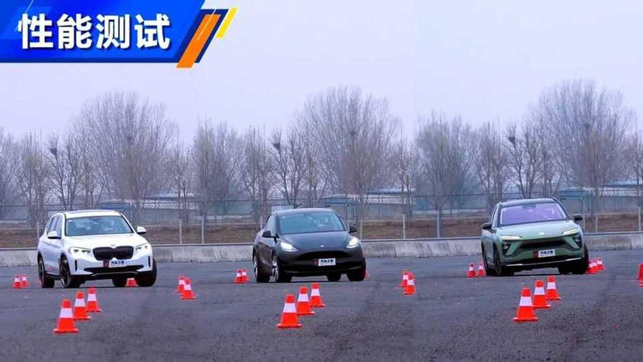Tesla Model Y, BMW iX3 ve NIO ES6 geyik testinde