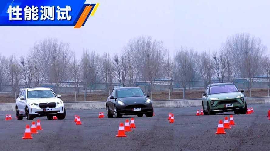 Tesla Model Y, BMW iX3 ve NIO ES6'nın çeşitli testlerini izleyin