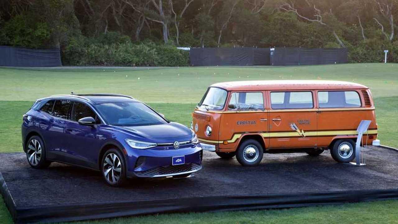 VW masa kini dan masa lalu berdampingan dalam ajang Amelia Island Concours 2021.
