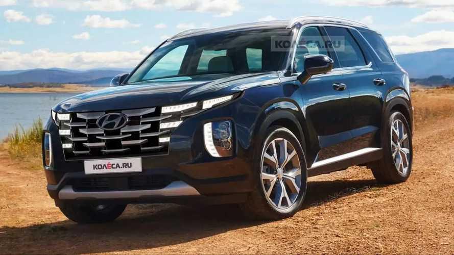 2022 Hyundai Palisade Redesign Previewed In Unofficial Renderings