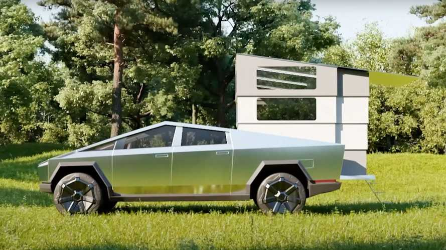 Meet CyberLandr, A Tesla Cybertruck Camper That Completely Disappears