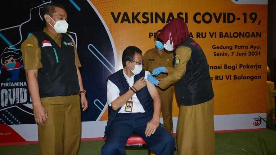 Lawan Covid-19, Pertamina Balongan Laksanakan Vaksinasi