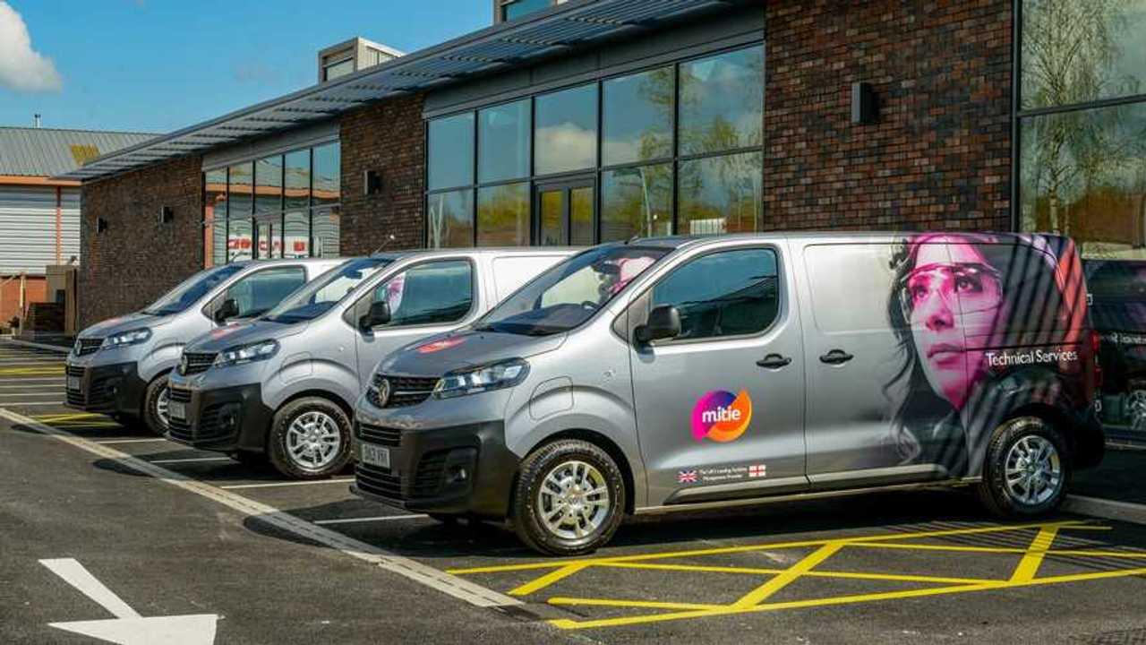 Vauxhall Vivaro-e all-electric vans in Mitie fleet in the UK