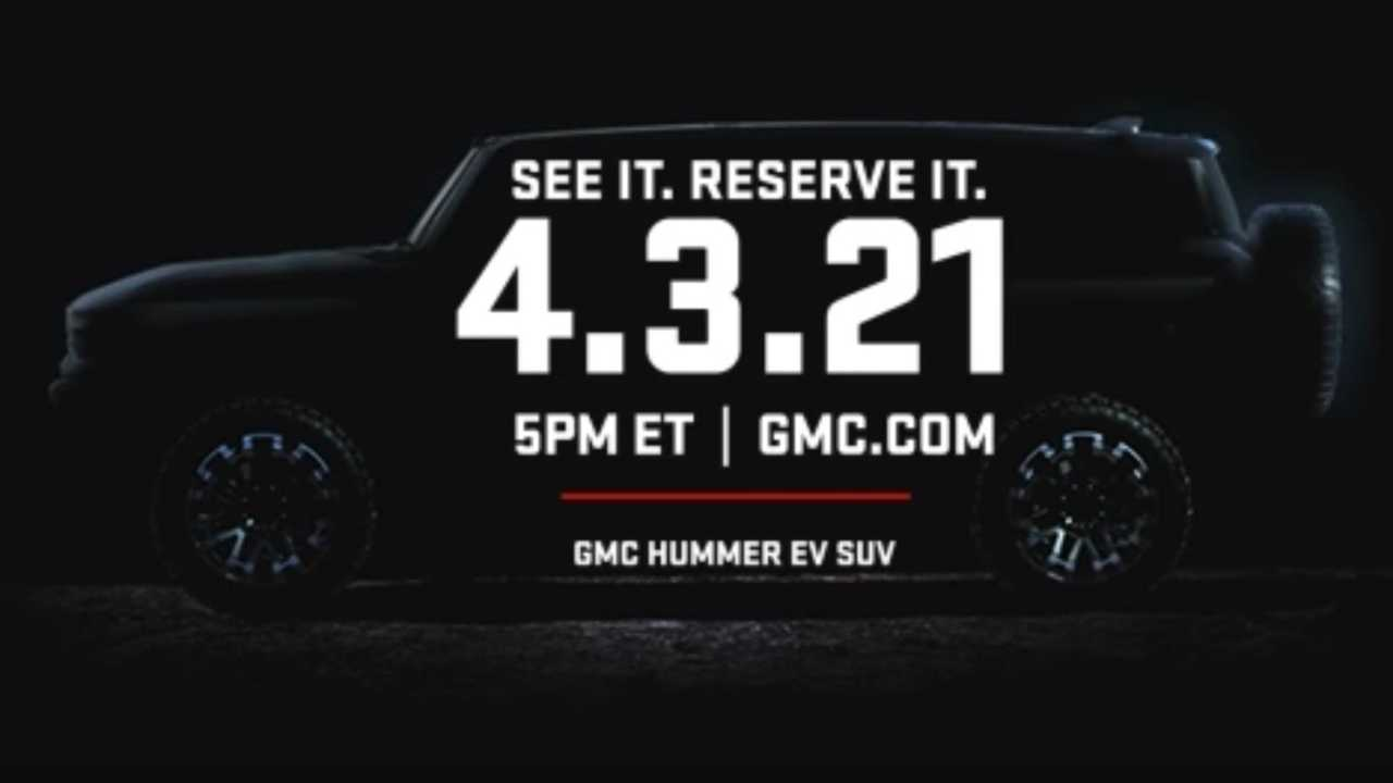 GMC Hummer SUV teased from the side