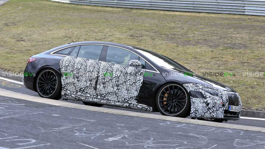 Mercedes-AMG EQS Spied On The Nurburgring