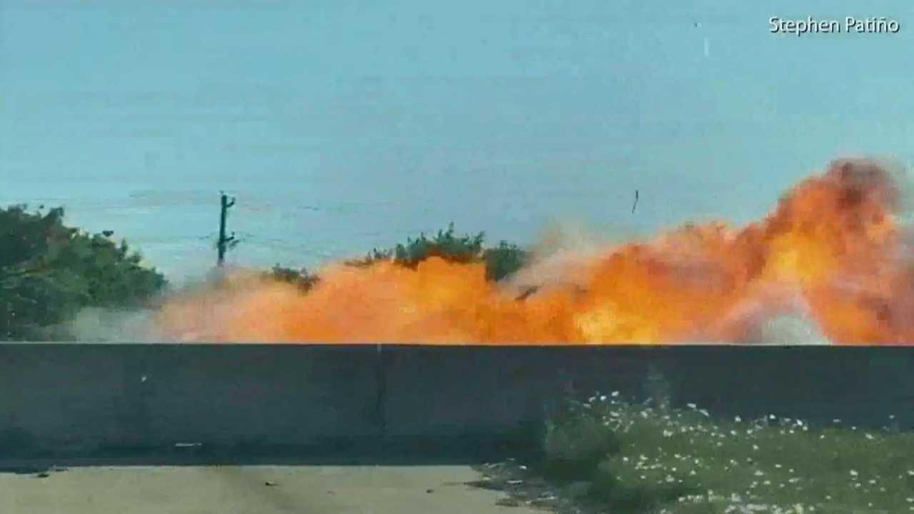 autópálya robbanás