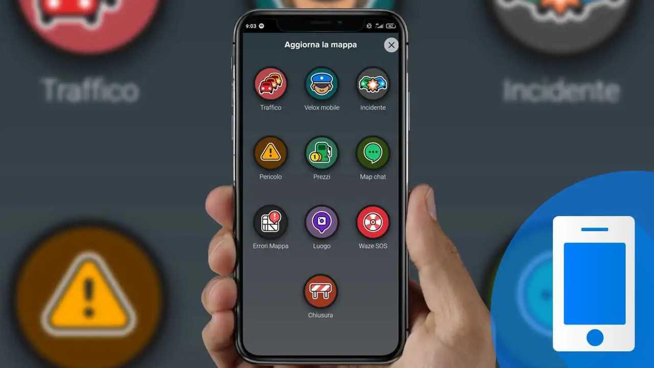 inviare una segnalazione app Waze