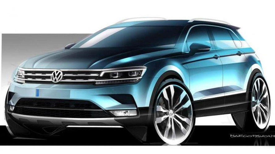 Volkswagen releases first Tiguan sketches