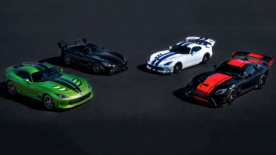2017 Dodge Viper ends its life with five special-edition models