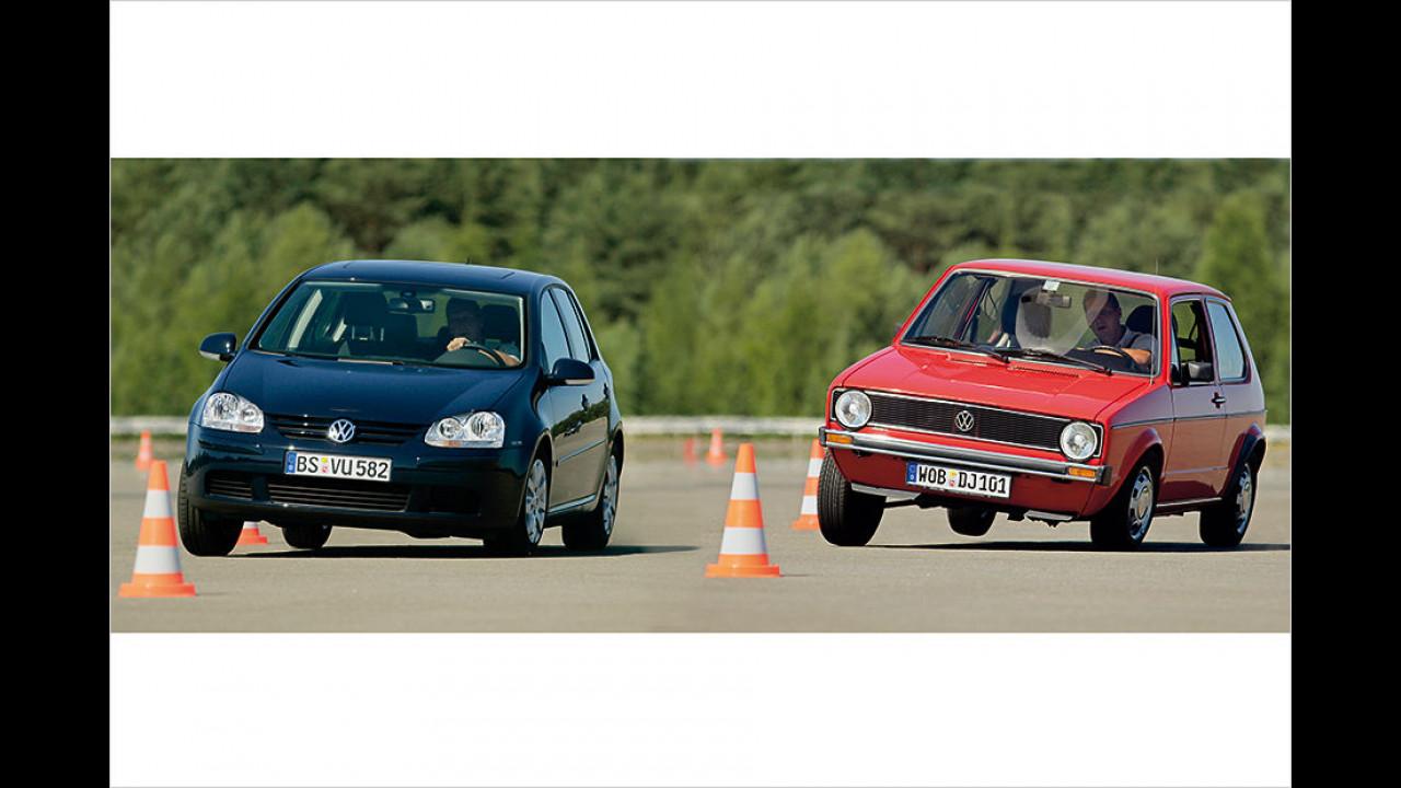 VW Golf I vs. Golf V