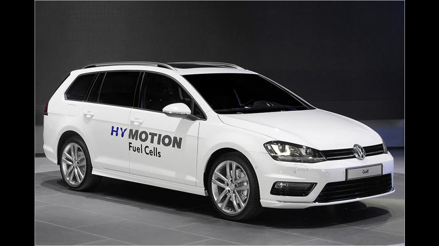 Erste Fahrt im Audi A7 h-tron und VW Passat HyMotion