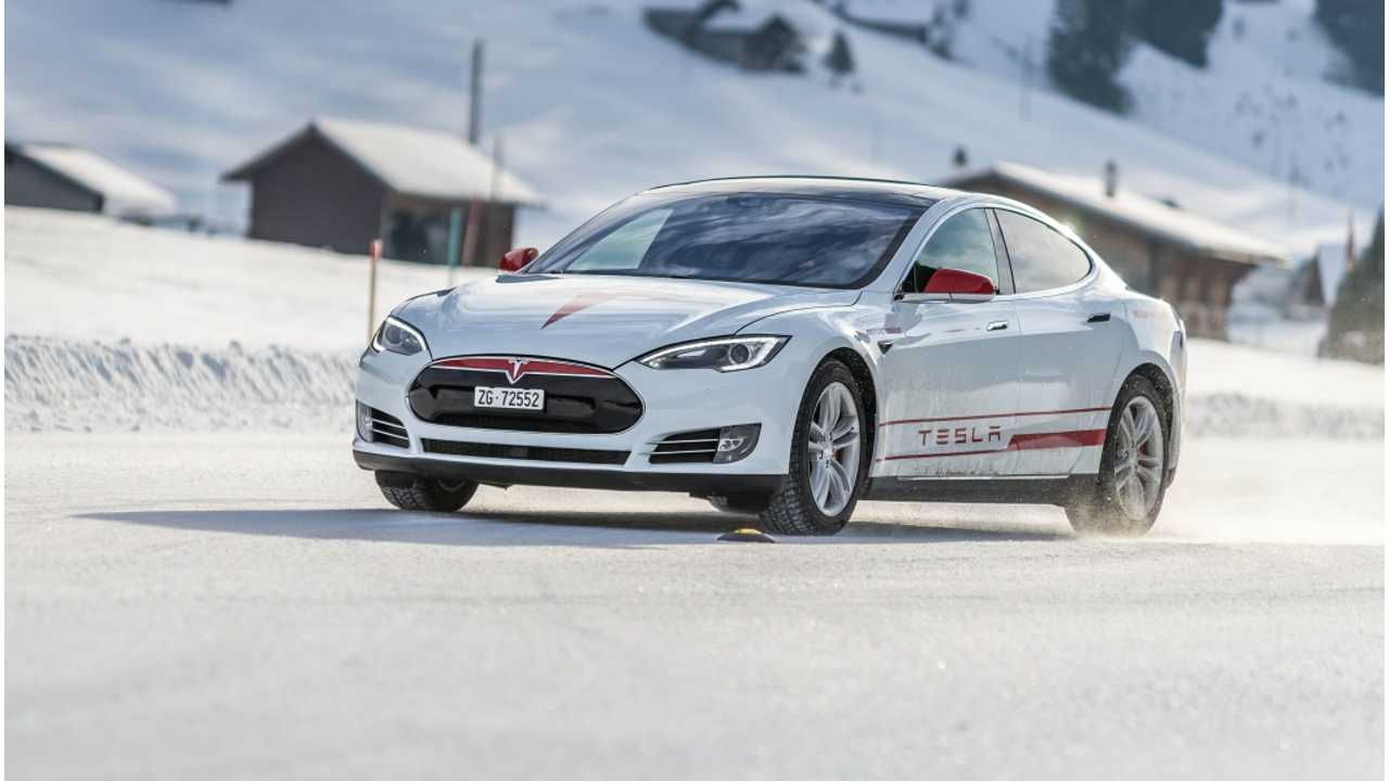 Tesla Winter Challenge On Snow And Ice