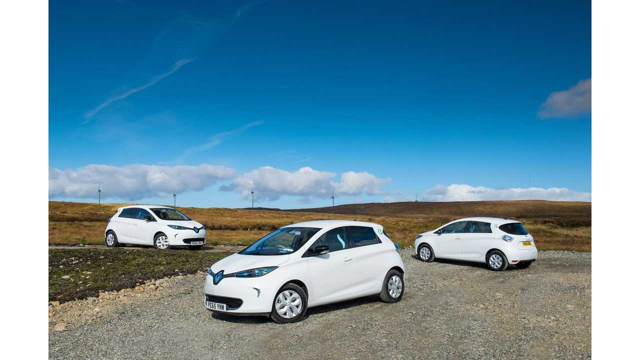 Renault ZOEs in Scotland