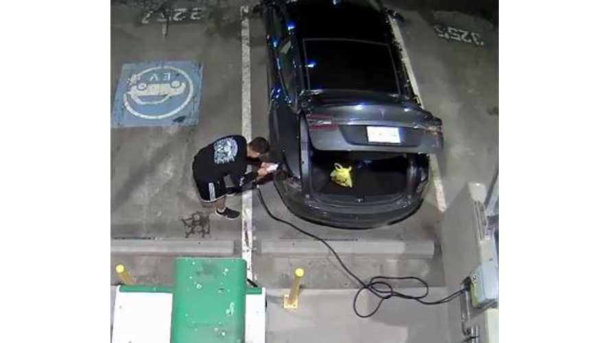 Charging A Tesla Model S Is Not Nearly As Difficult As This Guy Makes It Seem - Video