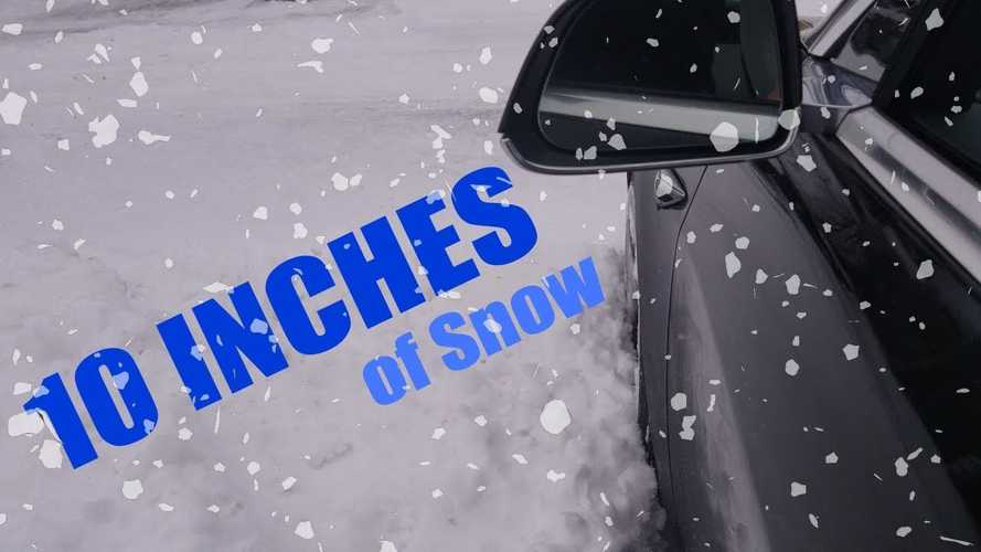 Watch Tesla Model 3 Tackle 10 Inches Of Snow: Video