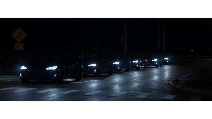 Chicago's First Zero-Emissions Chauffer Fleet Arrives In Convoy Of Tesla Model S EVs
