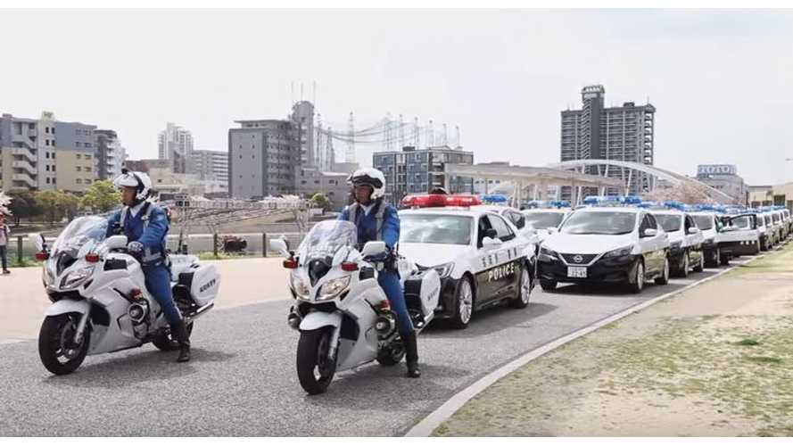 See New Nissan LEAF Police Cars Hit The Streets